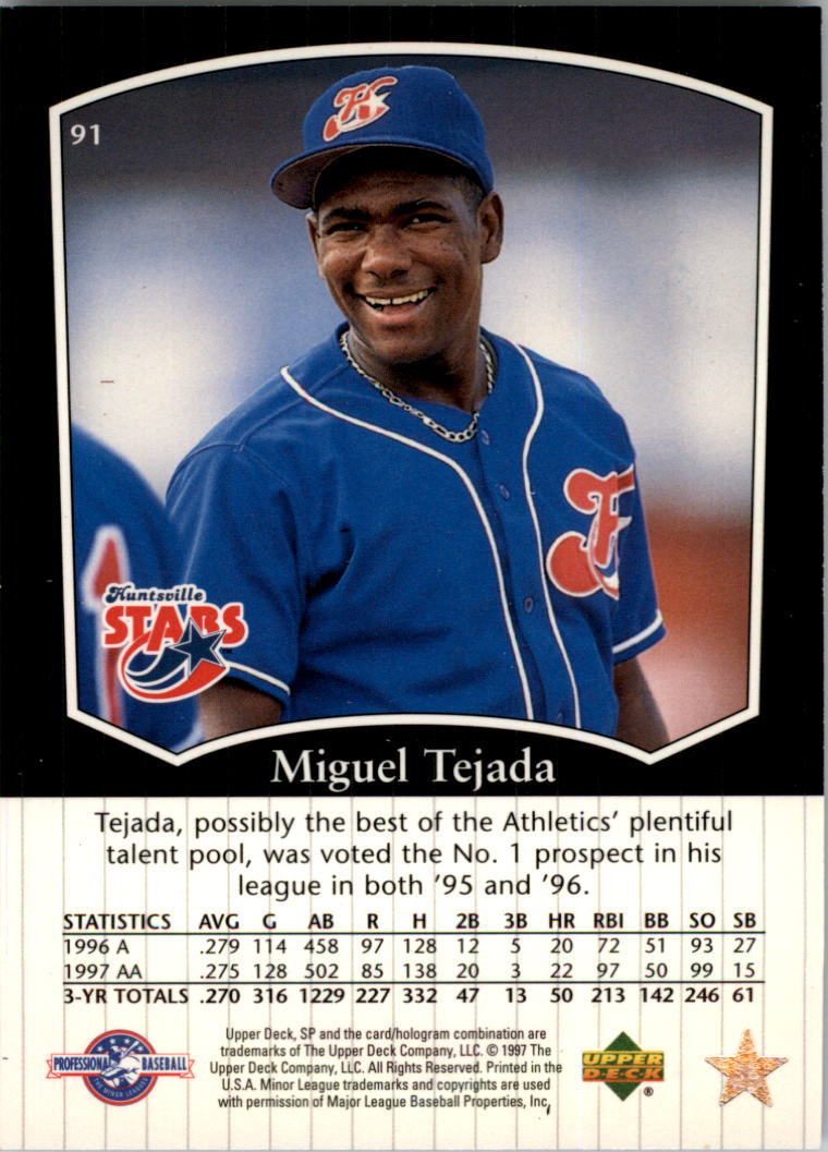 1998 SP Top Prospects #91 Miguel Tejada