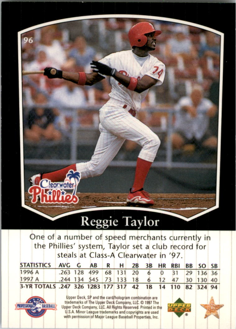 1998 SP Top Prospects #96 Reggie Taylor
