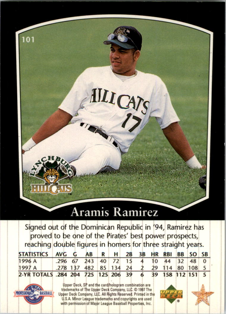 1998 SP Top Prospects #101 Aramis Ramirez back image