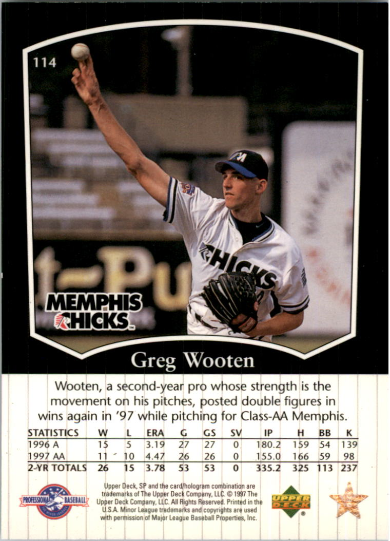 1998 SP Top Prospects #114 Greg Wooten back image