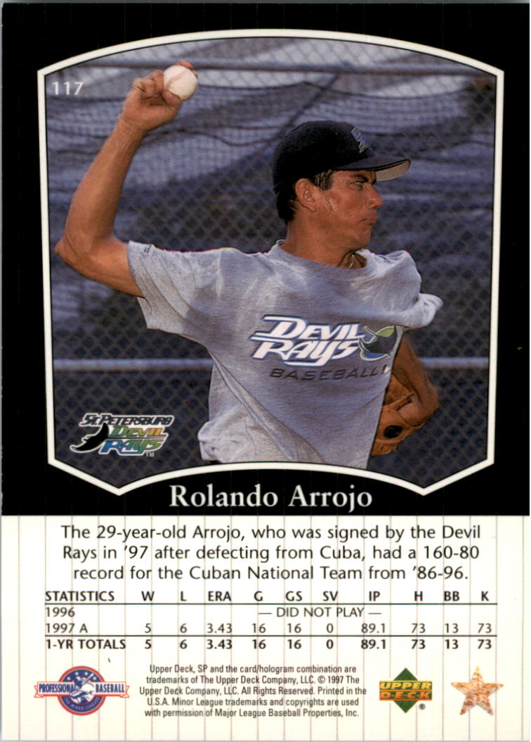 1998 SP Top Prospects #117 Rolando Arrojo back image