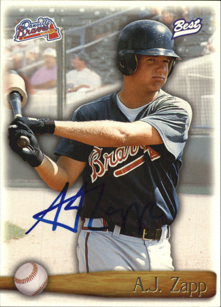 1998 Best Autographs Player of the Year #22 A.J. Zapp