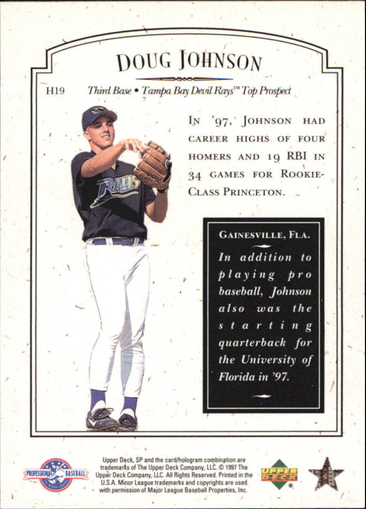 1998 SP Top Prospects Small Town Heroes #H19 Doug Johnson