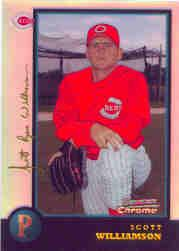 1998 Bowman Chrome Golden Anniversary Refractors #371 Scott Williamson