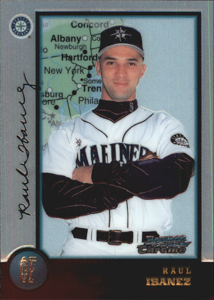 1998 Bowman Chrome International #206 Raul Ibanez