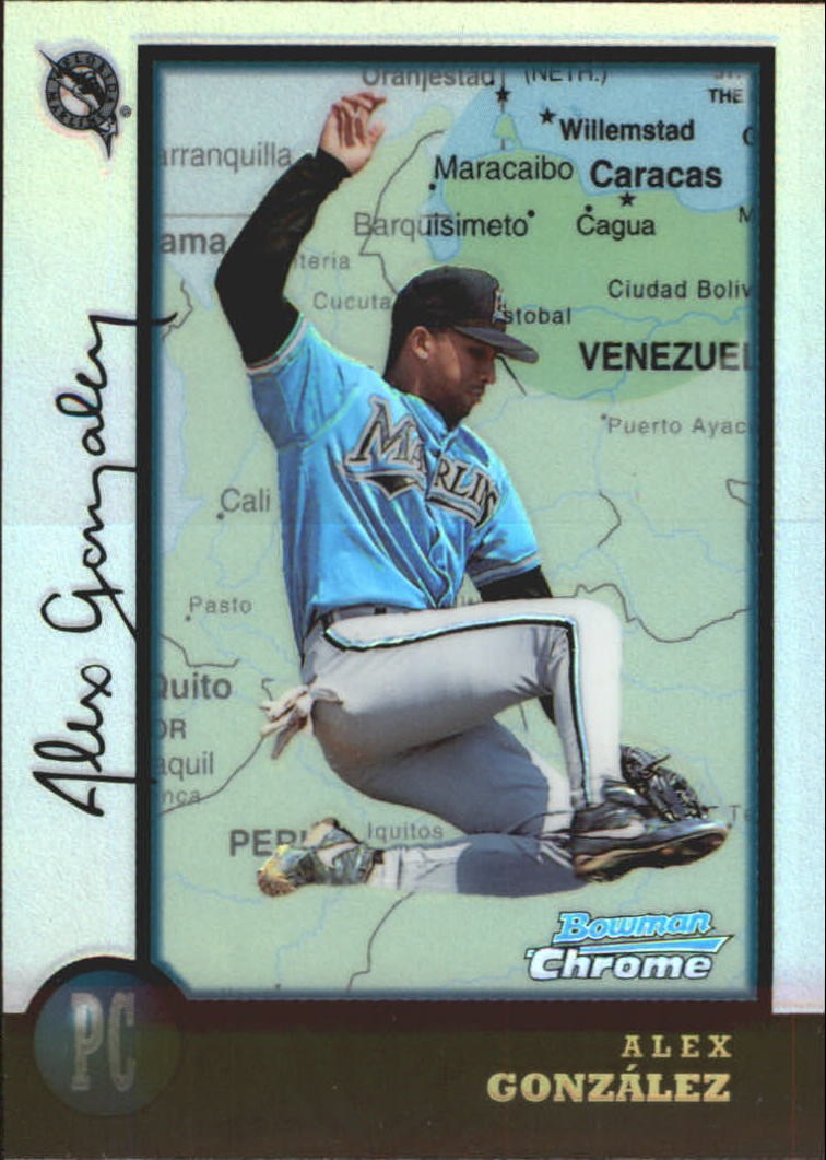 1998 Bowman Chrome International Refractors #73 Alex Gonzalez