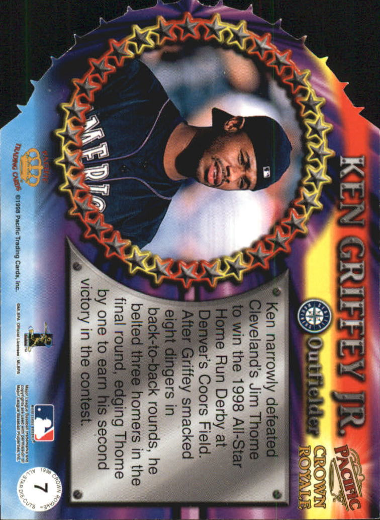 1998 Crown Royale All-Stars #7 Ken Griffey Jr. back image