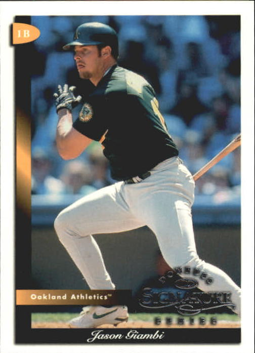 1998 Donruss Signature #81 Jason Giambi
