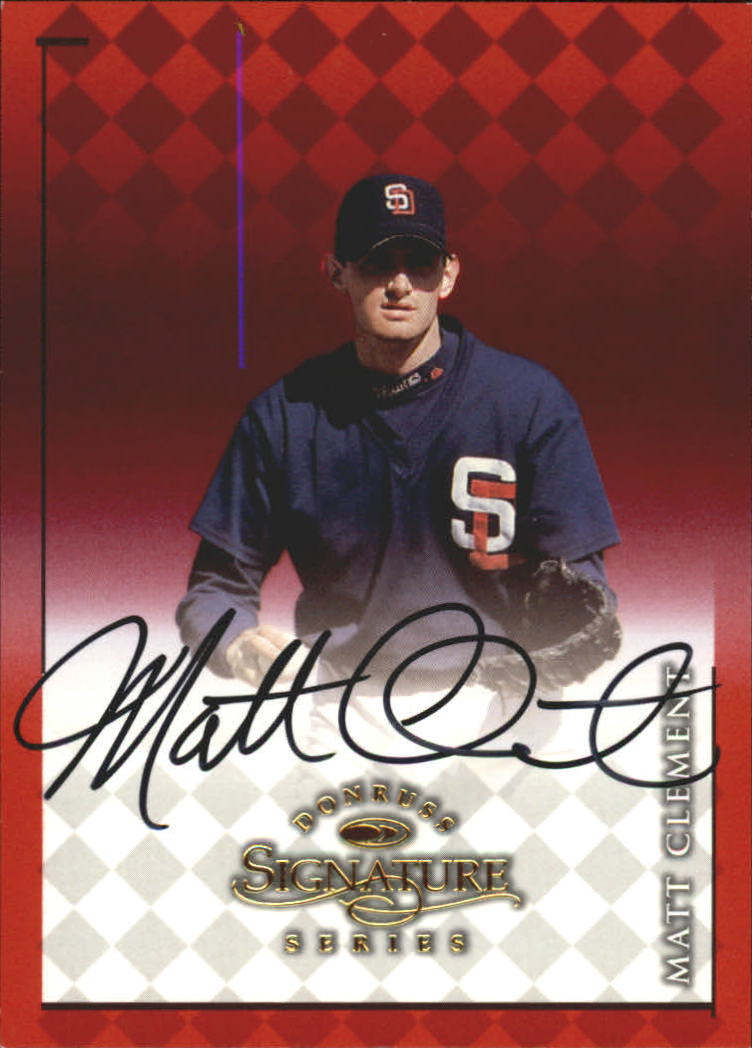 1998 Donruss Signature Autographs #18 Matt Clement/1400
