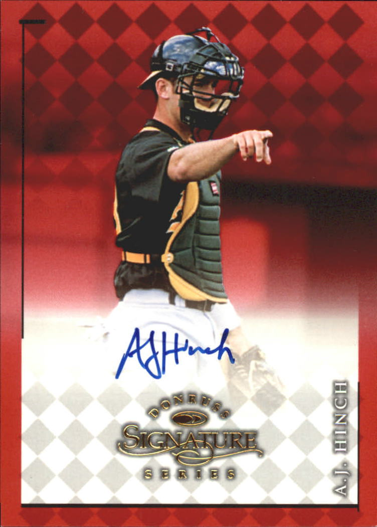 1998 Donruss Signature Autographs #44 A.J. Hinch/2900*