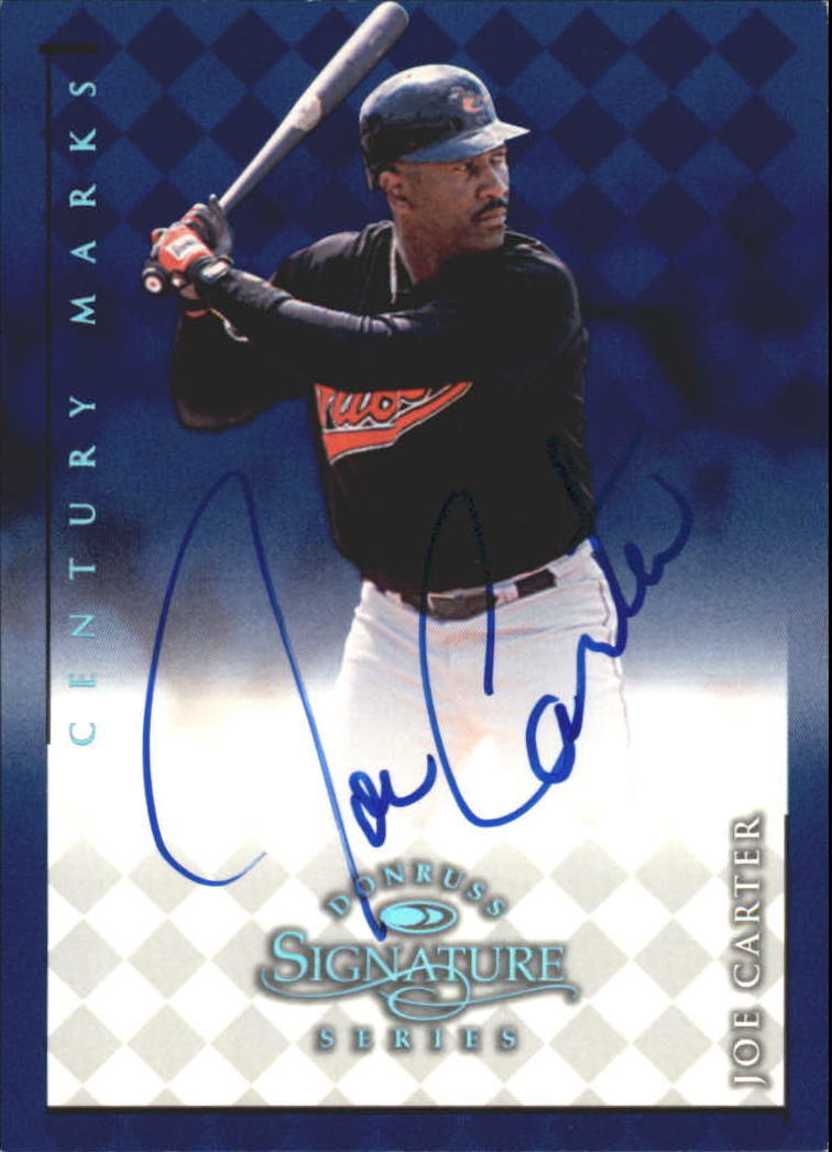 1998 Donruss Signature Autographs Century #20 Joe Carter