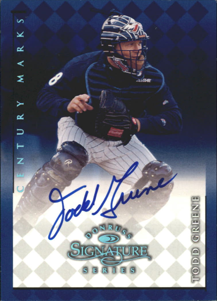 1998 Donruss Signature Autographs Century #49 Todd Greene