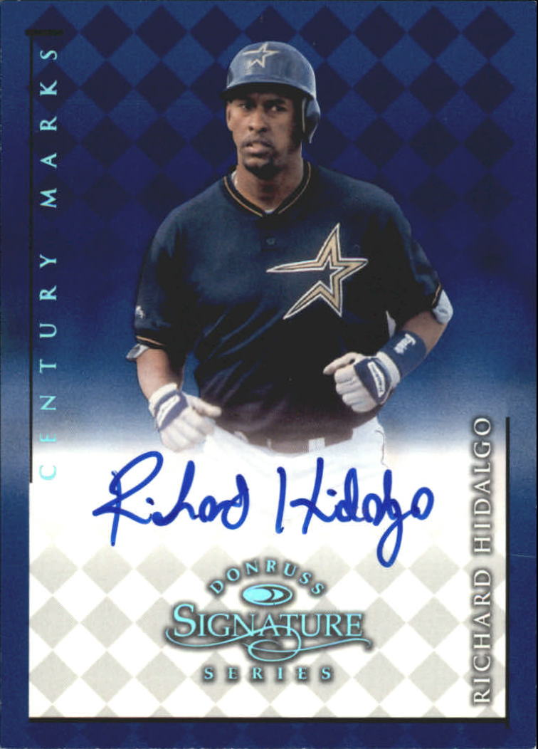 1998 Donruss Signature Autographs Century #57 Richard Hidalgo