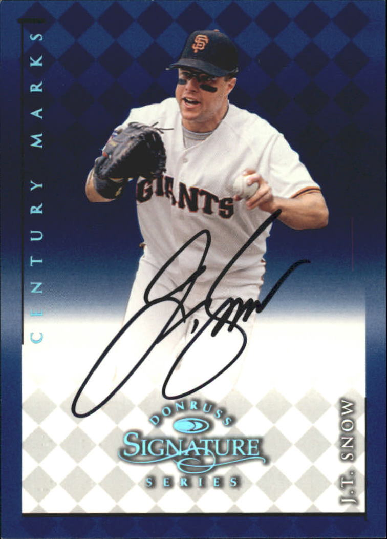 1998 Donruss Signature Autographs Century #104 J.T. Snow