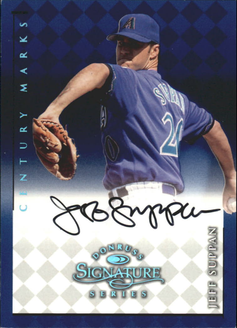 1998 Donruss Signature Autographs Century #106 Jeff Suppan