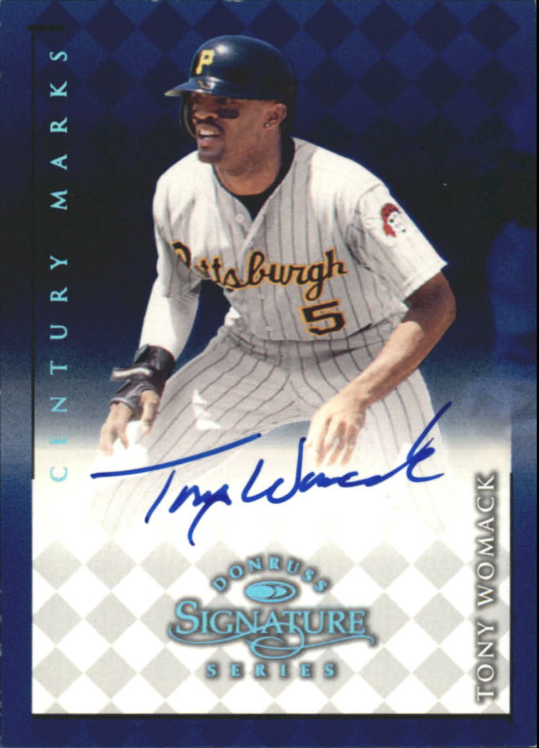 1998 Donruss Signature Autographs Century #121 Tony Womack