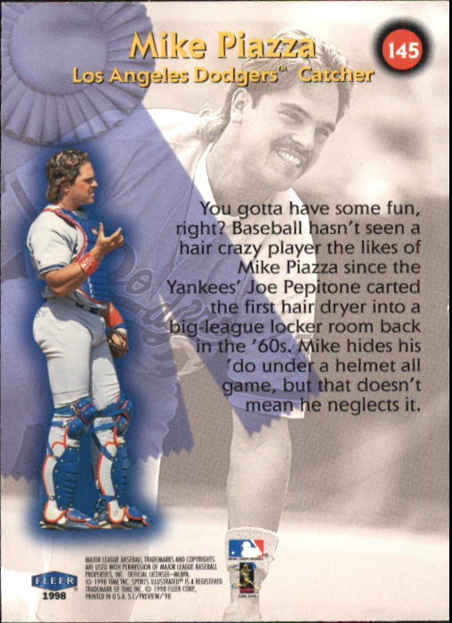 1998 Sports Illustrated #145 Mike Piazza BB back image