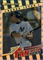 1998 Donruss FANtasy Team Die Cuts #18 Derek Jeter