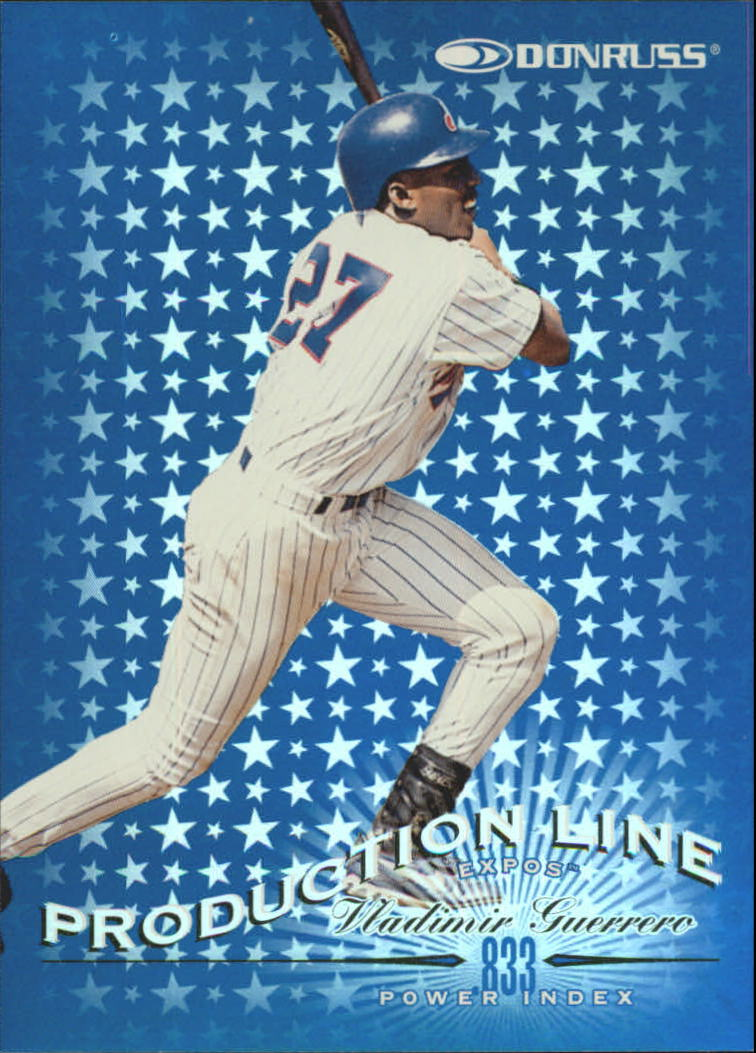 1998 Donruss Production Line Power Index #16 Vladimir Guerrero/833