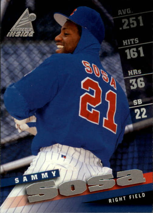 1998 Pinnacle Inside #14 Sammy Sosa