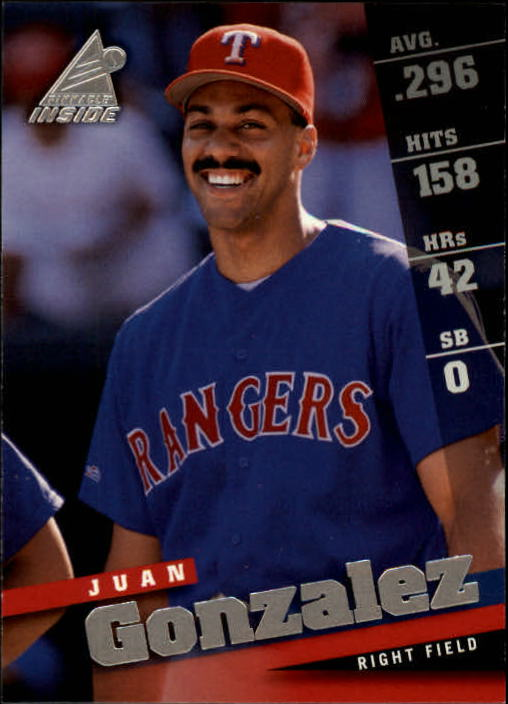 1998 Pinnacle Inside #41 Juan Gonzalez