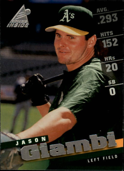 1998 Pinnacle Inside #75 Jason Giambi