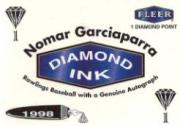 1998 Fleer Tradition Diamond Ink #4 Nomar Garciaparra