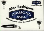 1998 Fleer Tradition Diamond Ink #8 Alex Rodriguez