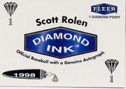 1998 Fleer Tradition Diamond Ink #9 Scott Rolen