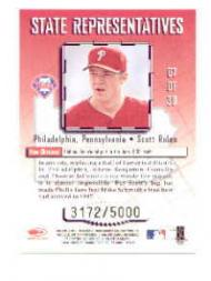 1998 Leaf State Representatives #7 Scott Rolen