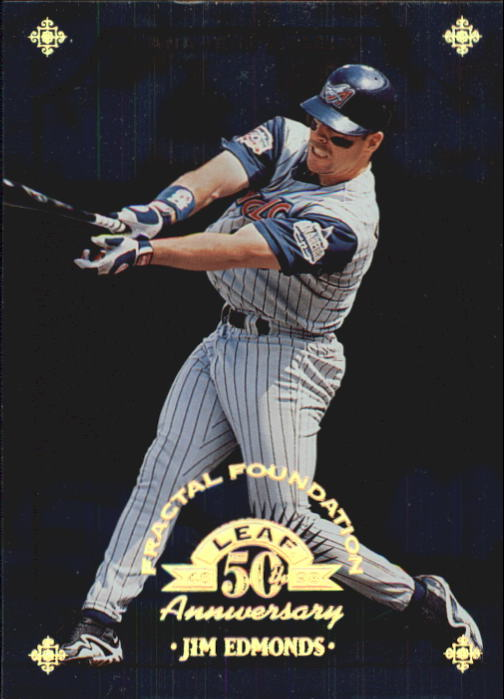 1998 Leaf Fractal Foundations #115 Jim Edmonds