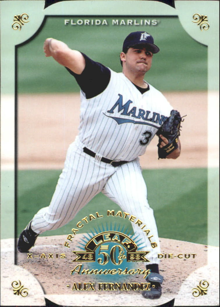 1998 Leaf Fractal Materials Die Cuts #140 Alex Fernandez PX