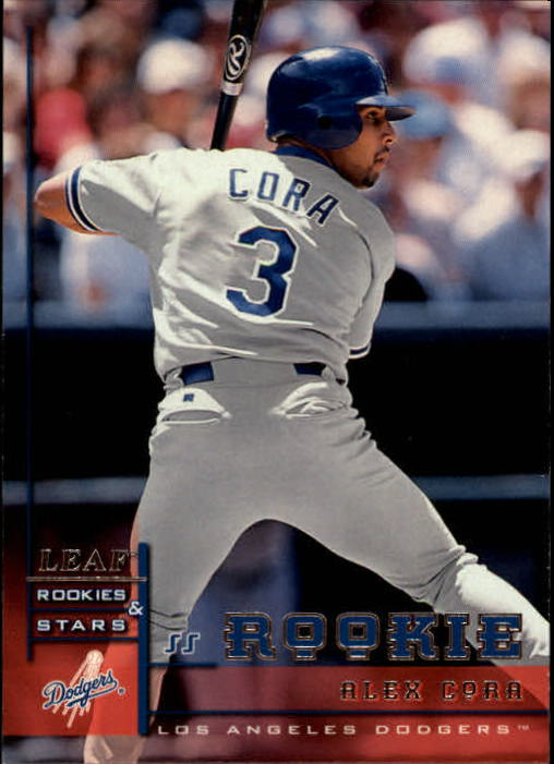1998 Leaf Rookies and Stars #334 Alex Cora SP RC