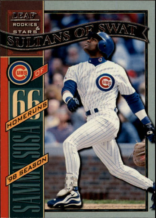 1998 Leaf Rookies and Stars #337 Sammy Sosa HR SP