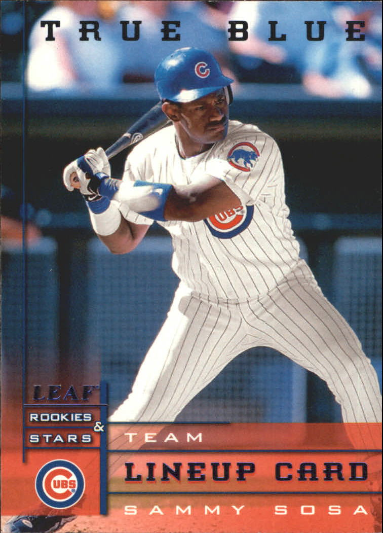 1998 Leaf Rookies and Stars True Blue #175 Sammy Sosa TLU