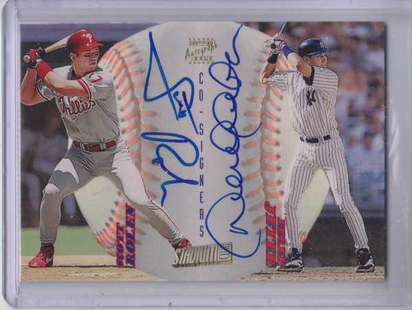 1998 Stadium Club Co-Signers #CS4 Scott Rolen C/Derek Jeter