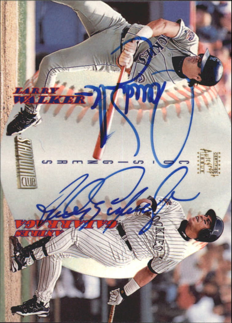 1998 Stadium Club Co-Signers #CS17 Larry Walker C/Andres Galarraga