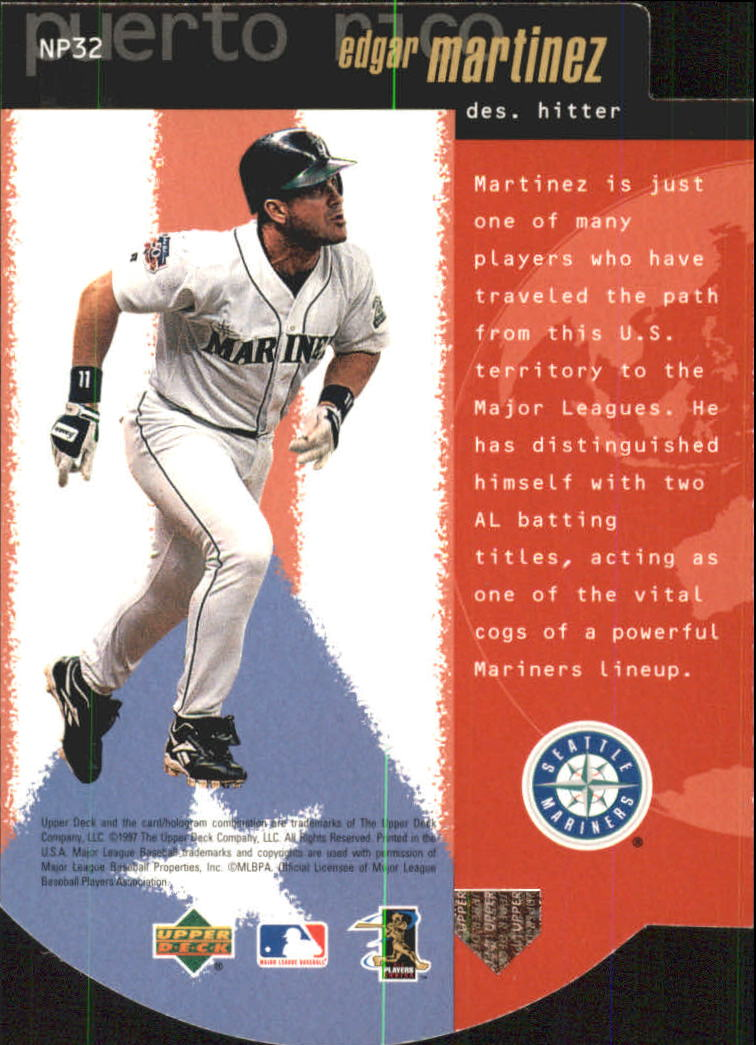 1998 Upper Deck National Pride #NP32 Edgar Martinez back image