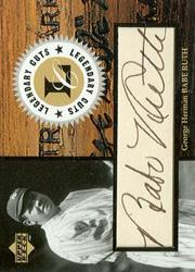 1998 Upper Deck Retro Legendary Cuts #LC Babe Ruth/3