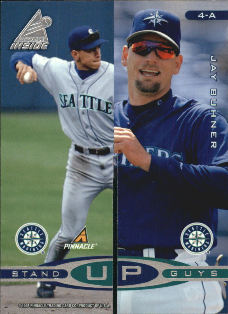 1998 Pinnacle Inside Stand-Up Guys #4AB A.Rod/Buhner/Grif/R.John