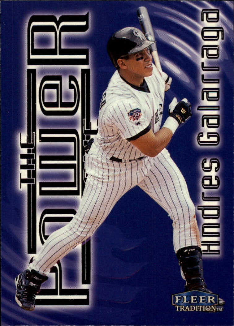 1998 Fleer Tradition Power Game #7 Andres Galarraga