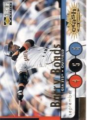 1998 Collector's Choice Crash the Game #CG30B B.Bonds Sept 4-6 L
