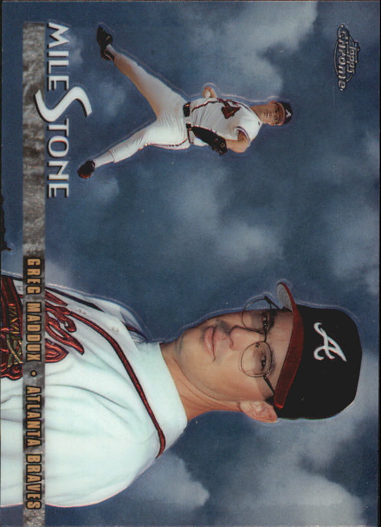 1998 Topps Chrome Milestones #MS7 Greg Maddux