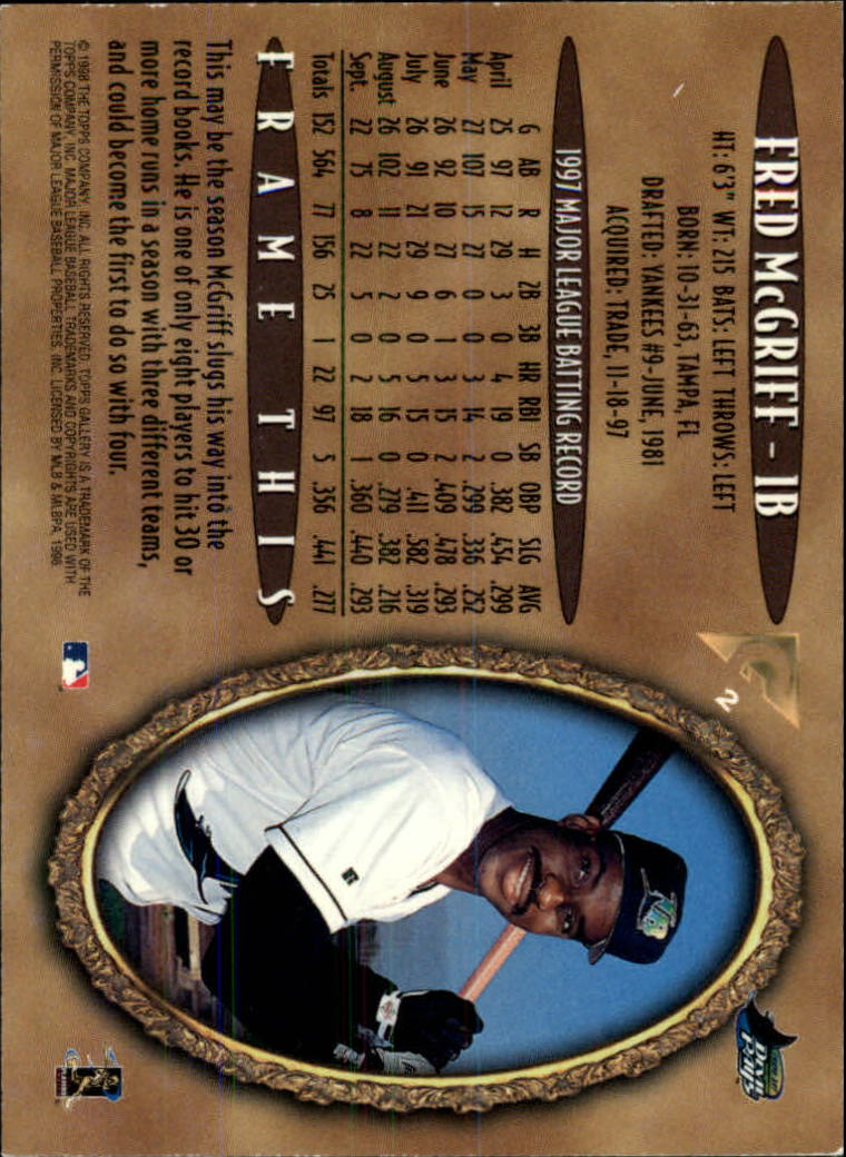 1998-Topps-Gallery-Baseball-Cards-Pick-From-List thumbnail 5