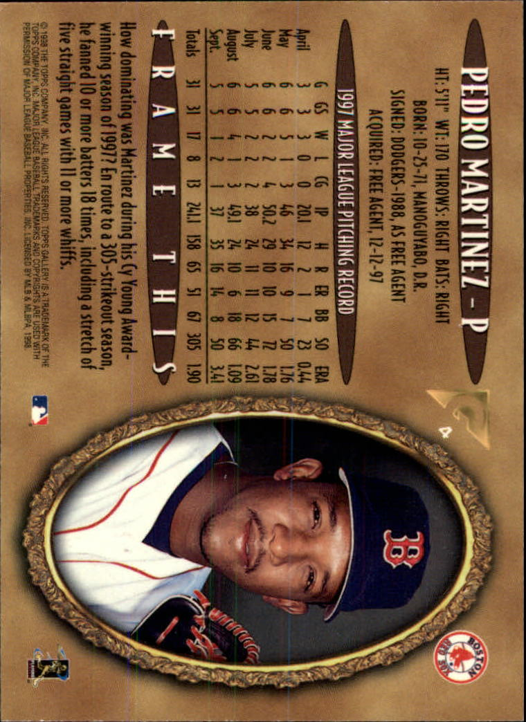 1998-Topps-Gallery-Baseball-Cards-Pick-From-List thumbnail 7