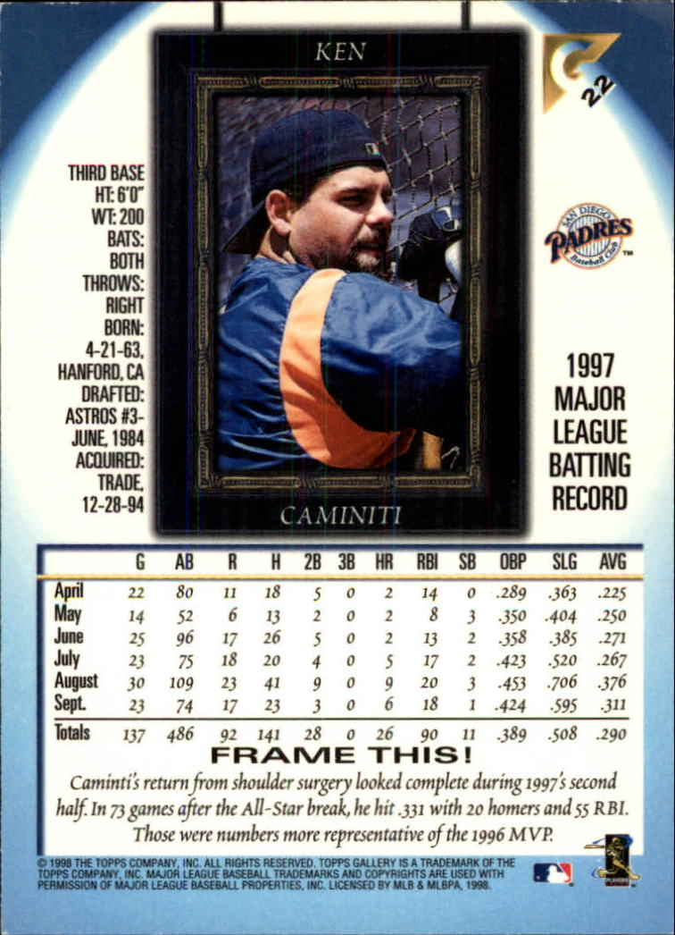 1998-Topps-Gallery-Baseball-Cards-Pick-From-List thumbnail 25