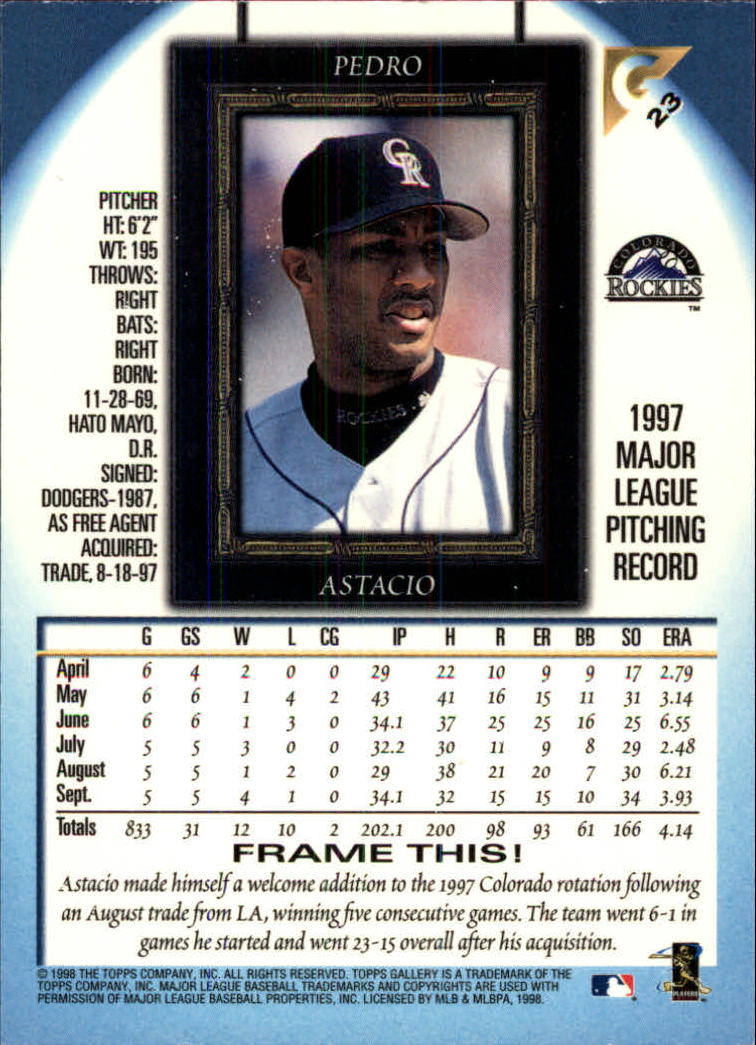 1998-Topps-Gallery-Baseball-Cards-Pick-From-List thumbnail 27