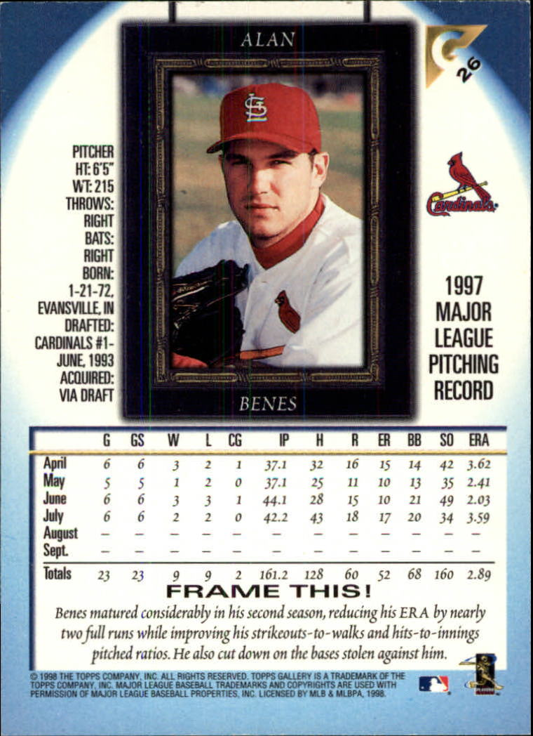 1998-Topps-Gallery-Baseball-Cards-Pick-From-List thumbnail 31