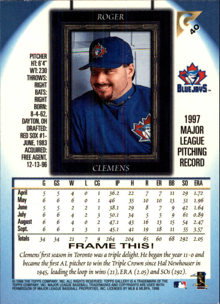 1998-Topps-Gallery-Baseball-Cards-Pick-From-List thumbnail 51