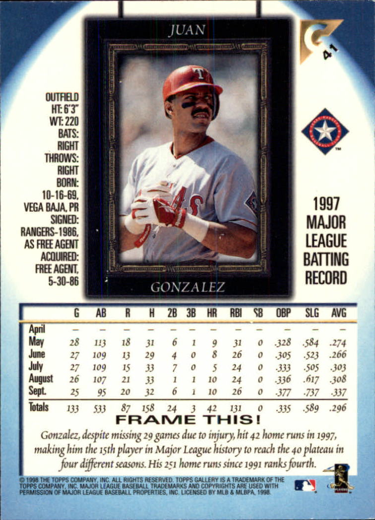 1998-Topps-Gallery-Baseball-Cards-Pick-From-List thumbnail 53